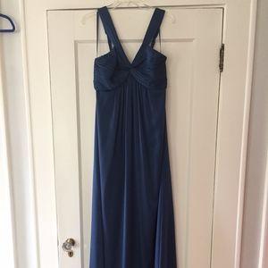 BCBG Blue Satin Dress